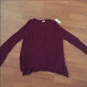 Maroon Wine oversized sweater